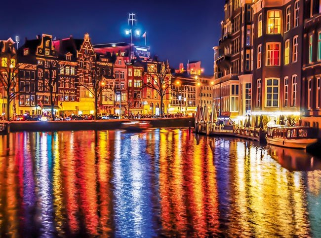 Puzzle 500 Clementoni 35037 Amsterdam Nocą