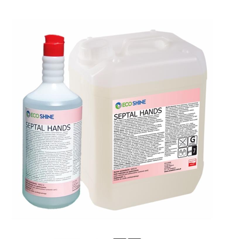 Płyn do dezynfekcji Septal Hands 1L + chusteczki do dezynfekcji