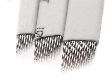 Igły/Piórka do mikrobladingu białe