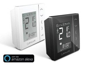 Bezprzewodowy, nadtynkowy cyfrowy regulator temperatury sieci ZigBee, 4xAAA Czarny