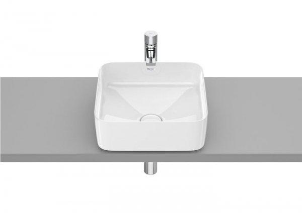 Inspira Umywalka nablatowa cienkościenna Square       Wymiary:      Szerokość: 370 mm.      Głębokość: 370 mm.      Wysokość: 140 mm.