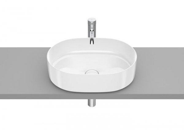 Inspira Umywalka nablatowa cienkościenna Round       Wymiary:      Szerokość: 500 mm.      Głębokość: 370 mm.      Wysokość: 140 mm.