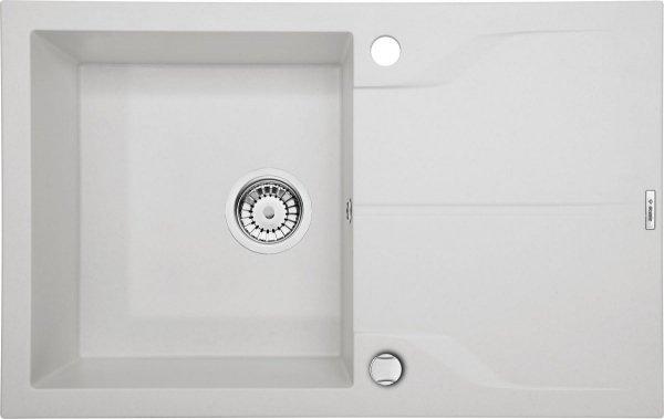 Andante Flush Zlewozmywak 1-komorowy z ociekaczem - alabaster
