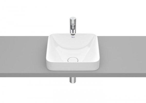 Inspira Umywalka blatowa cienkościenna Square        Wymiary:      Szerokość: 370 mm.      Głębokość: 370 mm.      Wysokość: 73 mm.