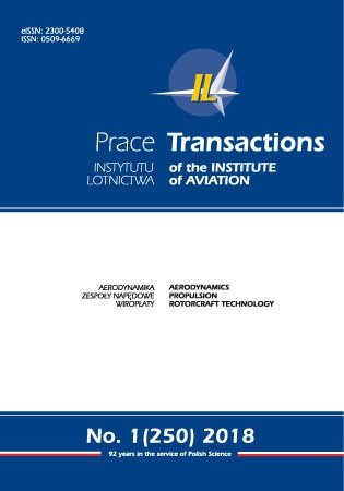 Transactions of the Institute of Aviation (Prace Instytutu Lotnictwa) 250 (1/2018)