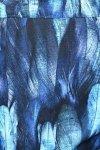 MijaCulture - osłona drukowana z minky 4127 niebieska/pióra 3