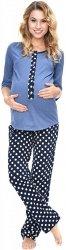 MijaCulture - 3 w 1 piżama ciążowa i do karmienia 4054/M52 niebieski/granat1
