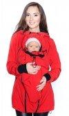 kurtka softshell 3D ciążowa i do noszenia dziecka M52/4068 czerwony 2