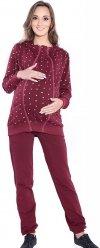 Dres Ciążowy komplet 3 części 4053 bordo