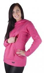 MijaCulture – 3 w 1 ciepła bluza ciążowa i do karmienia 1101 różowy