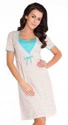 Elegancka koszula 2 w 1 ciążowa i do karmienia 5062/4044 mięta
