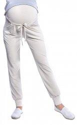 MijaCulture - spodnie alladynki ciązowe z panelem 4012/M33 beż