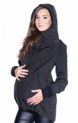 MijaCulture - kurtka softshell 3D ciążowa i do noszenia dziecka M55/4068 czarny