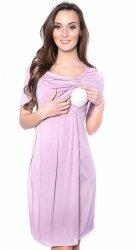 MijaCulture - sukienka 2 w 1 ciążowa i do karmienia Lora różowa
