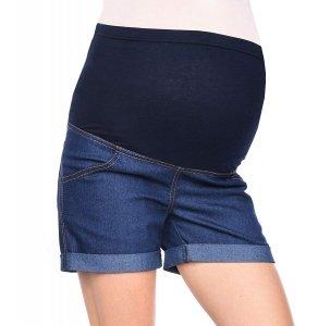 MijaCulture - szorty ciążowe 3086/M13 denim granat