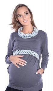 MijaCulture - 3 w1 bluza ciążowa i do karmienia 4057/M49 szary
