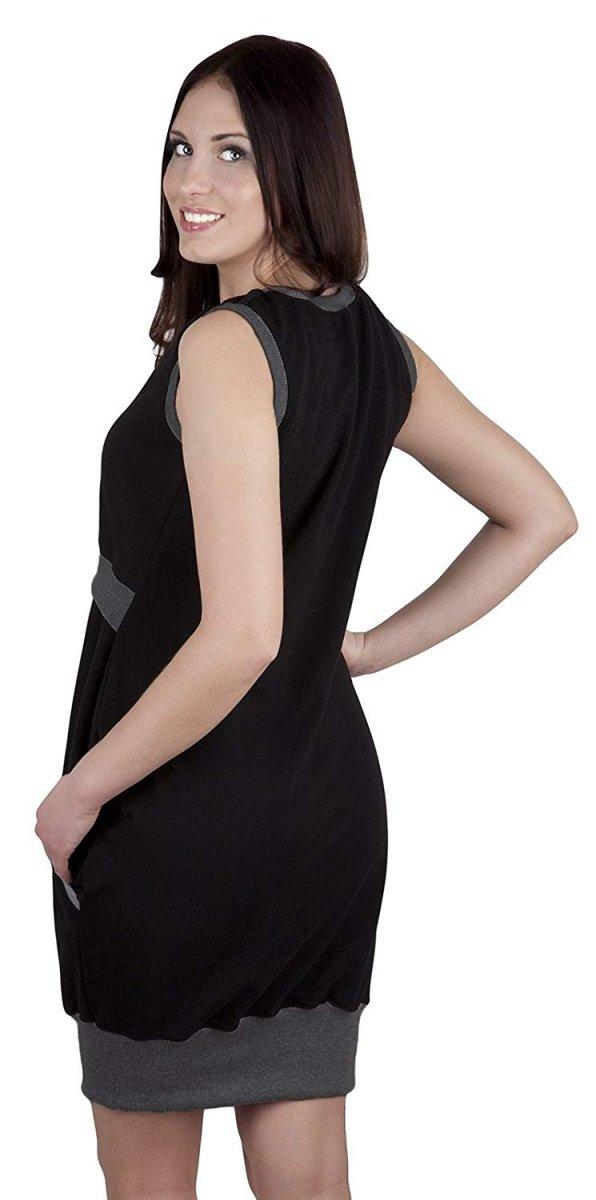 """MijaCulture - 2 w1 sukienka ciążowa i do karmienia """"Fiona"""" 7111 czarny/melanż 3"""