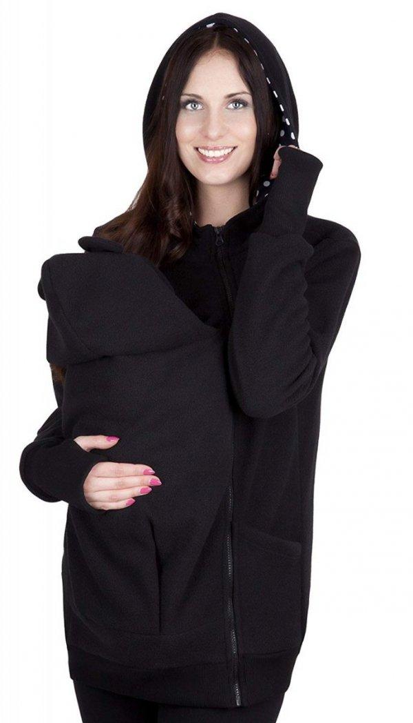 bluza polarowa do noszenia dziecka 4019A/M21 czarny 3
