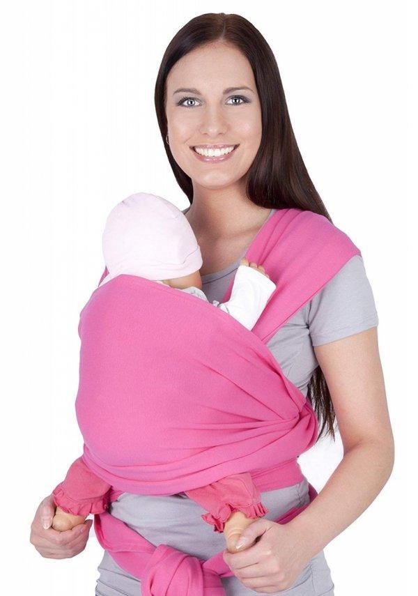 chusta do noszenia dzieci 4011/M28 różowy 1