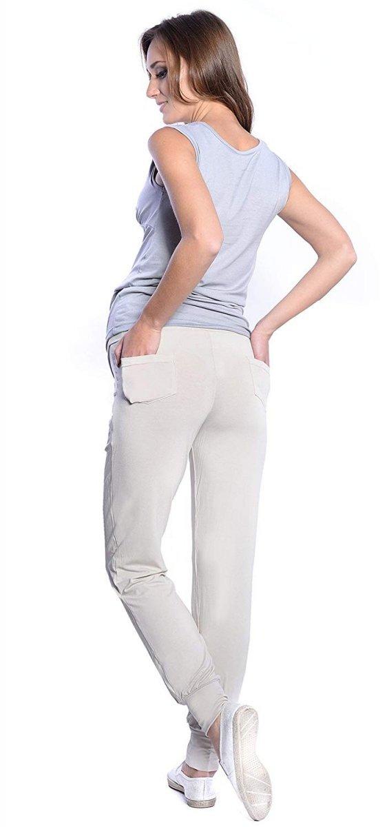 MijaCulture - spodnie alladynki z panelem 4012/ M 33 beż 3