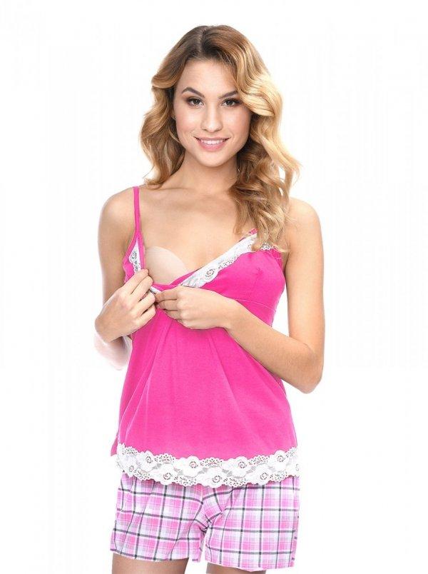 MijaCulture - 3 w 1 piżama ciążowa i do karmienia 4024/M41 róż