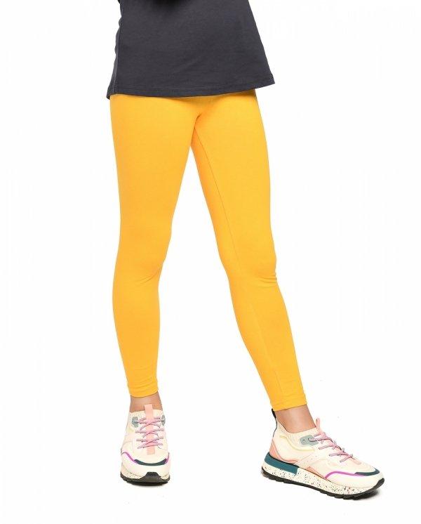 Legginsy dziewczęce getry dla dzieci ZOE żółty