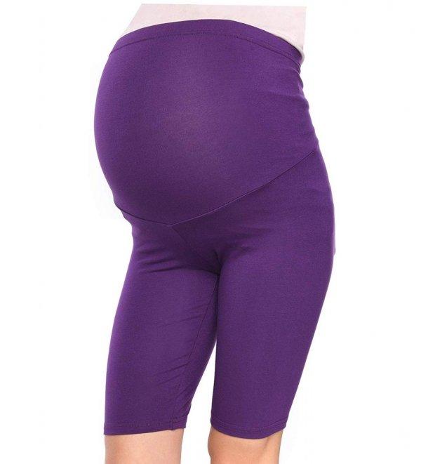 Wygodne legginsy ciążowe Mama fioletowy 3