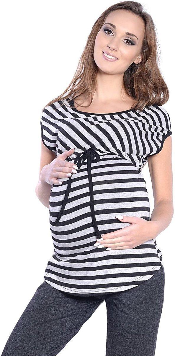 Dres ciążowy i do karmienia komplet 3 części 4053 grafit