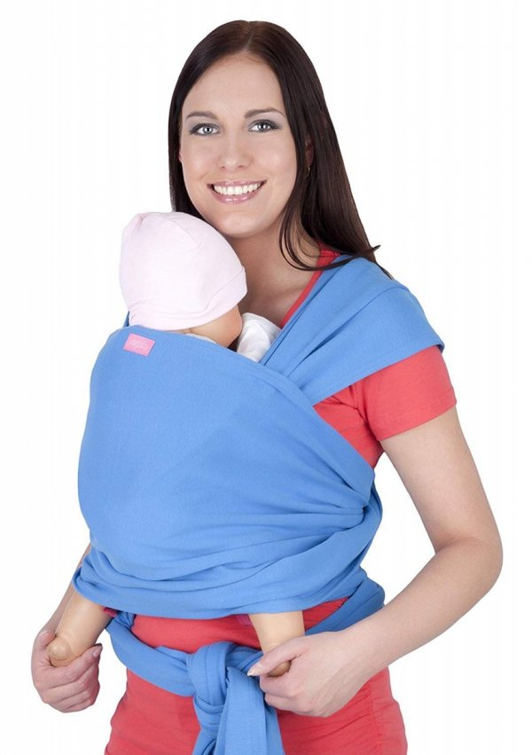 chusta do noszenia dzieci 4011/M28 jasno niebieski 1