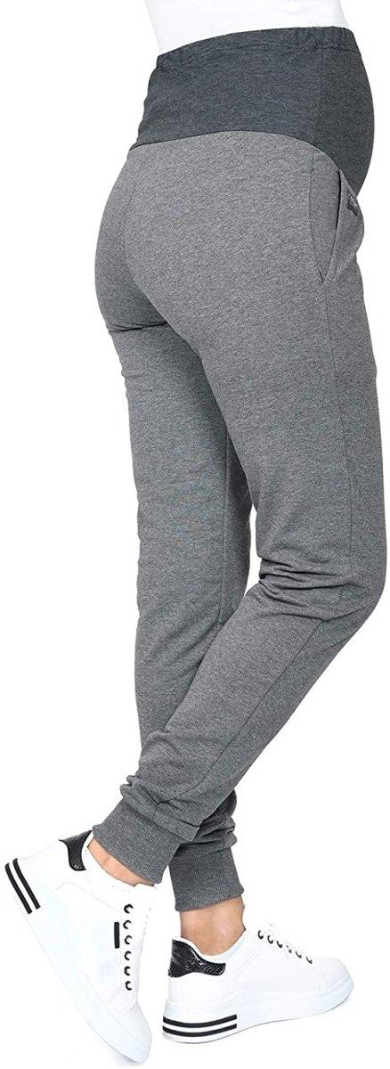 MijaCulture Wygodne spodnie dresowe ciążowe Coco M003 grafit2