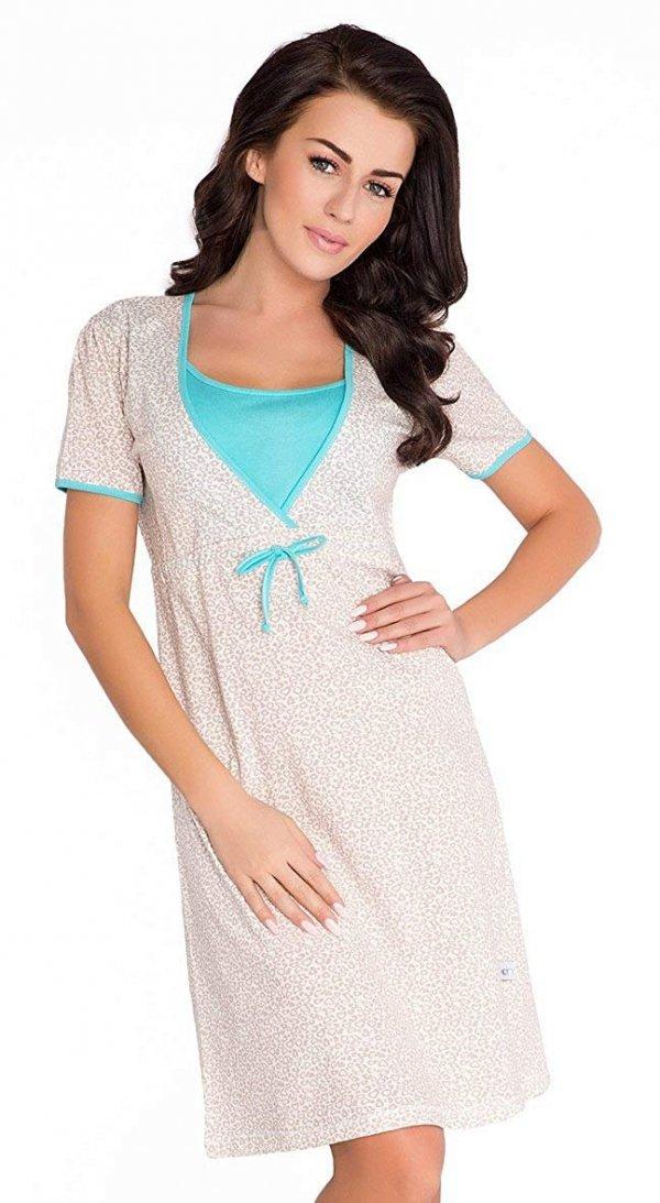 Elegancka koszula 2 w 1 ciążowa i do karmienia 5062/4044 mięta 1