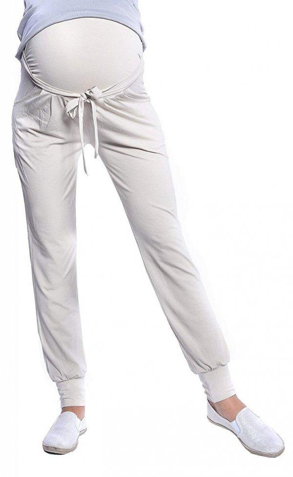 MijaCulture - spodnie alladynki z panelem 4012/ M 33 beż 1