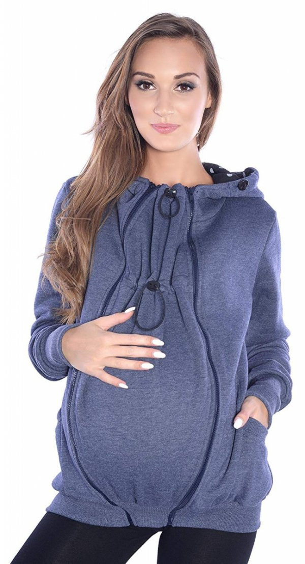 3 w1 bluza 3D ciążowa i do noszenia dziecka 4046/M50 jeans 2