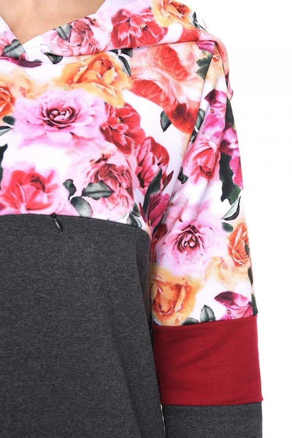 """MijaCulture - 3 w 1 bluza ciążowa i do karmienia """"Jane"""" 7144 grafit/kwiaty 3"""
