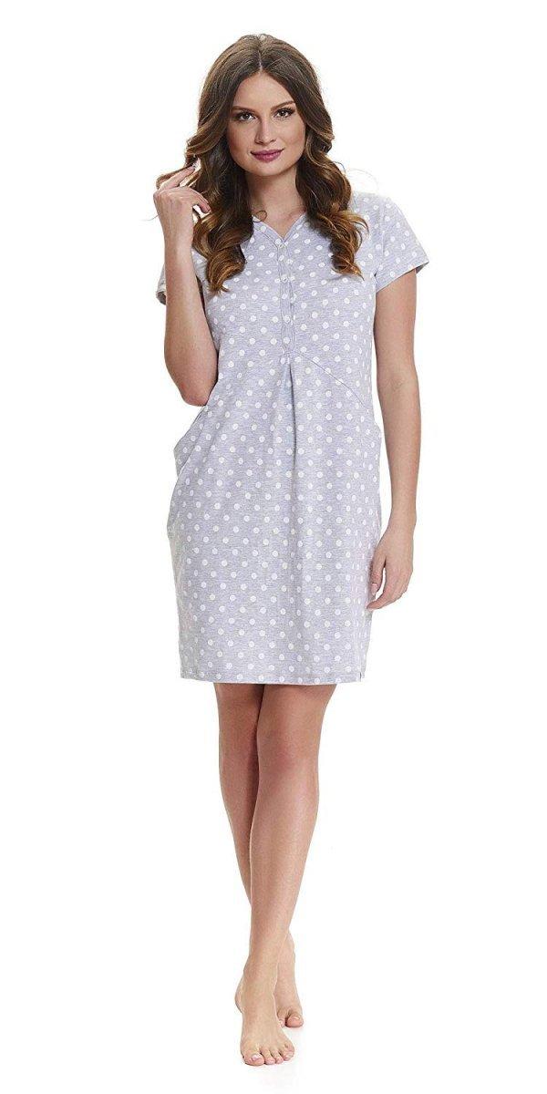 Elegancka koszula 2 w 1 ciążowa i do karmienia 5073/9453 melanż 2