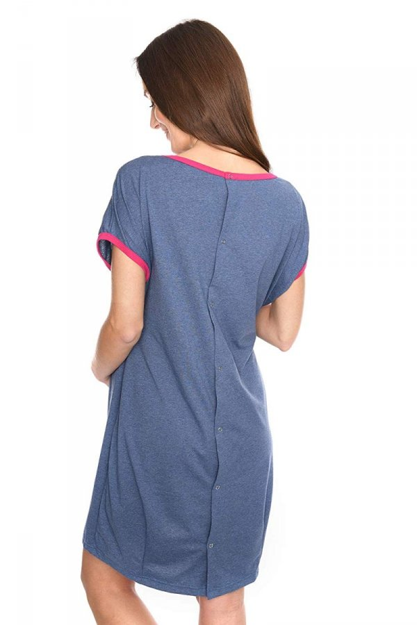 MijaCulture - koszula do porodu 4123 jeans 3