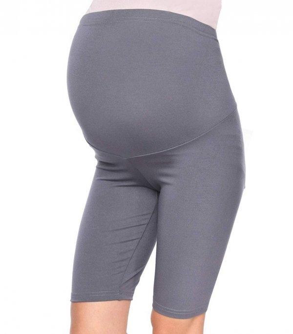 Wygodne legginsy ciążowe Mama szary 3