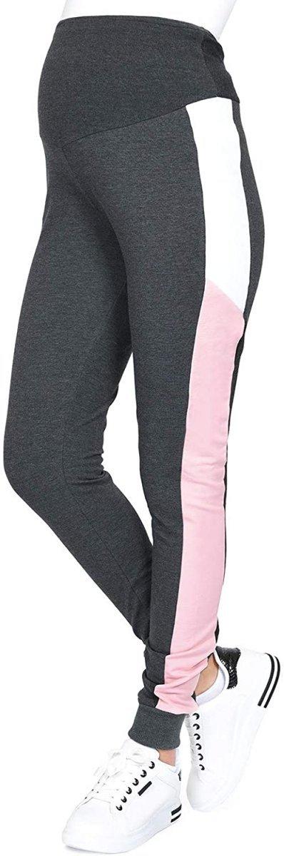 Wygodne spodnie ciązowe dresowe  Elle 9095 grafit2