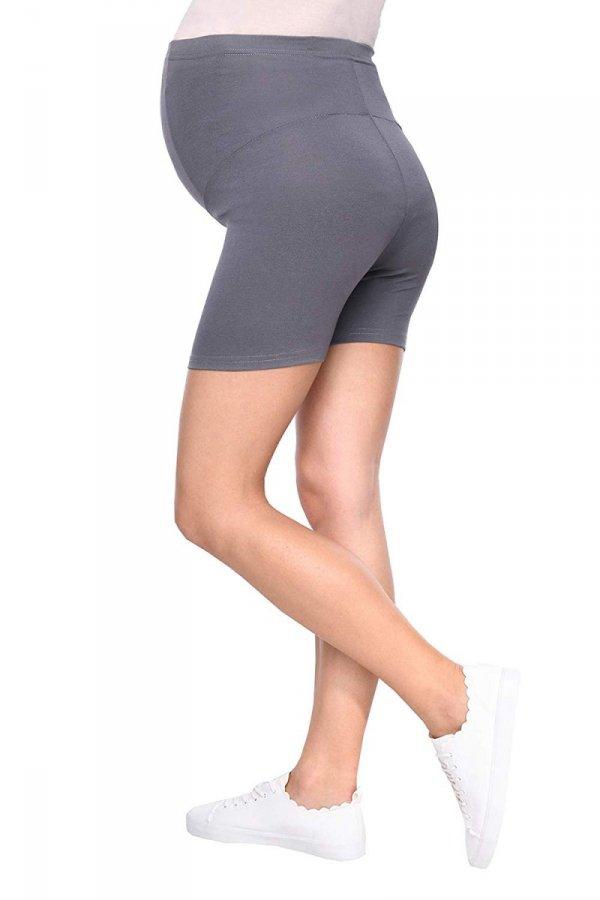 Wygodne krótkie legginsy ciążowe Mama Mia szary 5