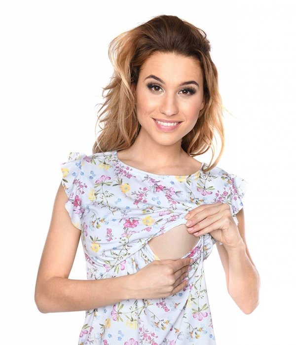 """MijaCulture - zjawiskowa sukienka 2 w 1 ciążowa i do karmienia """"Lia"""" kwiaty 3"""
