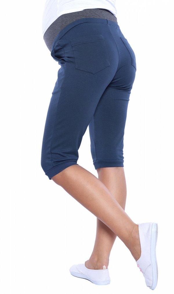 MijaCulture - spodenki ciążowe 4090/3815 niebieskie