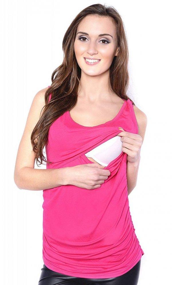 MijaCulture - bluzka 2 w 1 ciążowa i do karmienia M15/3093 różowy 1