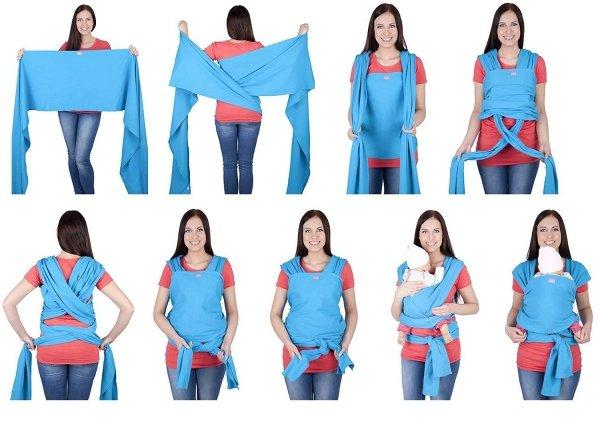 chusta do noszenia dzieci 4011/M28 różowy 3
