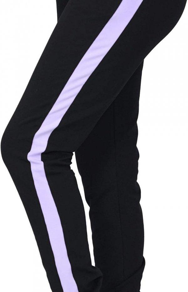 MijaCulture Wygodne spodnie dresowe ciążowe Coco M003 czarny/fiolet5