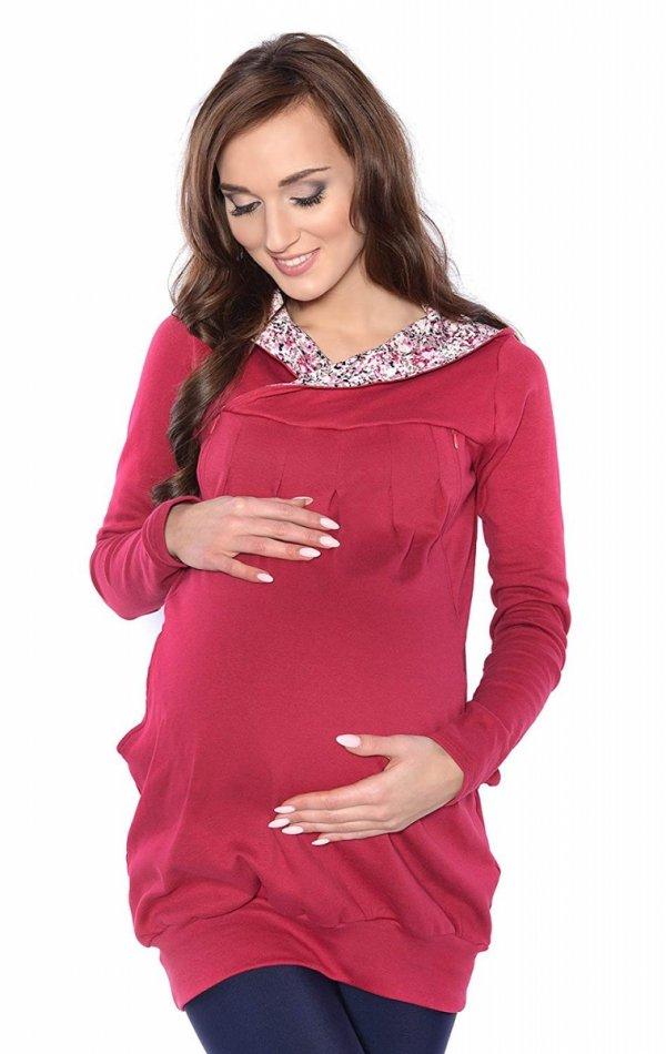 """bluza 3 w 1 ciążowa i do karmienia z kapturem """"Mimi"""" 7102A bordo 1"""