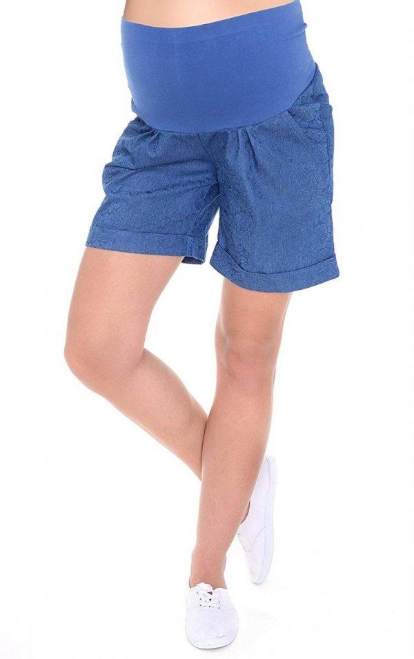 MijaCulture - cienkie szorty ciążowe 4074/M56 niebieske druk 2
