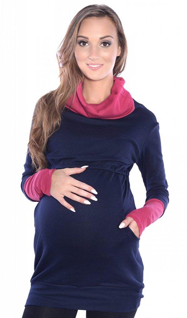 """3 w 1 bluza ciążowa i do karmienia """"Maddy"""" 7115 granat/burgund 2"""
