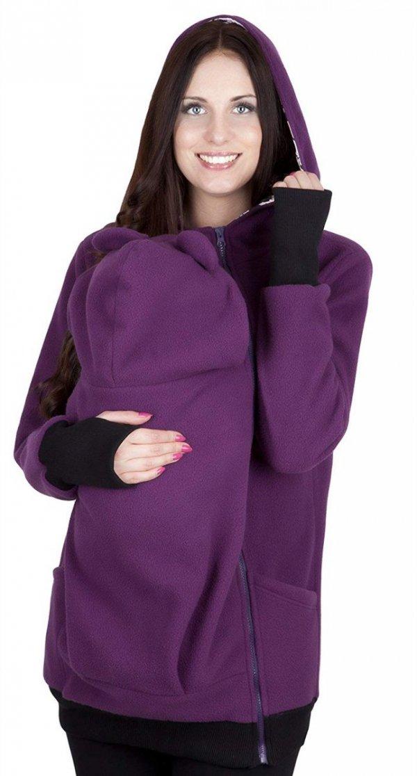 bluza polarowa do noszenia dziecka 4019A/M21 fiolet 3