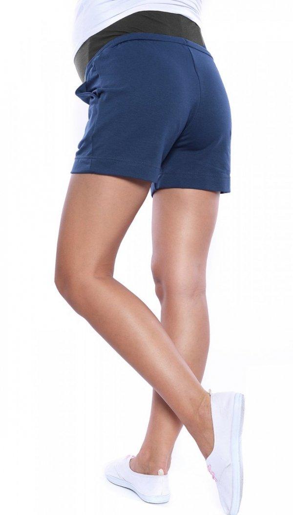 MijaCulture - spodenki ciążowe 4091/3808 niebieskie