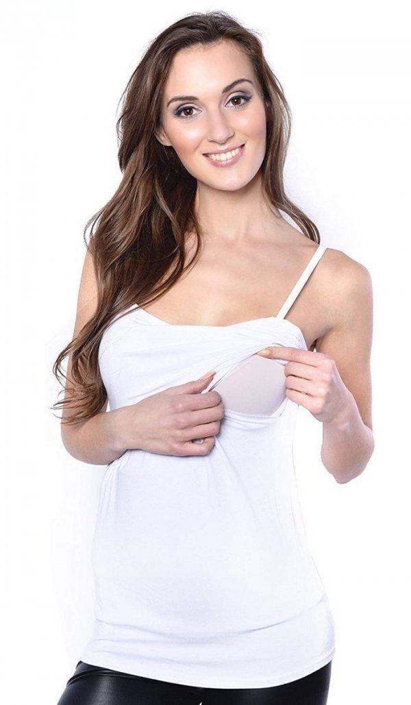 top na ramiączkach 2 w 1 ciążowy i do karmienia 4029/M46 biały 3